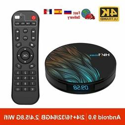 Android 9.0 Smart TV Box 2.4G / 5G Wifi RK3318 Quad Core Med