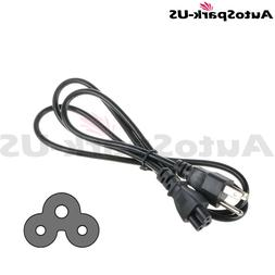 AutoSpark-US 5FT 3 Prong Black AC Power Cord Cable For LG LE