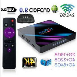 H96 Max Android9.0 Smart TV Box 64G Quad Core 4K HD 5.8GHZ W