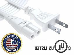 White 12 Ft 2 Prong Cable Led Lcd Smart Tv Vizio Samsung Son